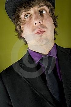 Elegant Speaker On Green Background Royalty Free Stock Photo - Image: 6750545