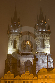 Night Prague Fog Royalty Free Stock Photos - Image: 6751148