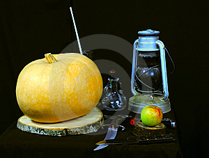 Still Life Picture Of Halloween Prepare Stock Photo - Image: 6751170