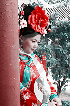 Chinese Girl In Ancient Dress Stock Image - Image: 6752631