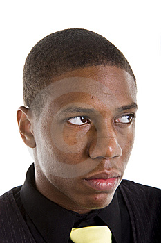 Nice Young Black Man Looking Up And Left Stock Images - Image: 6752654