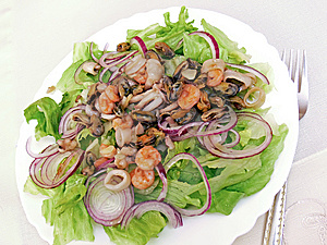Seafood Salat Royalty Free Stock Photos - Image: 6752968