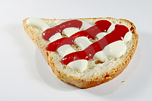 Bread Ketchup And Sour Cream Stock Photos - Image: 6753163