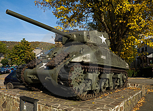 Tank In La Roche Royalty Free Stock Photos - Image: 6753218