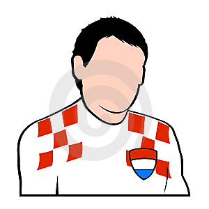 Croatian Football Player Stock Photography - Image: 6754112