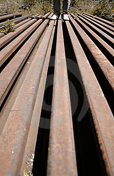 Rails Stock Image - Image: 6755361