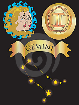 Zodiac Sign Gemini Stock Images - Image: 6757224
