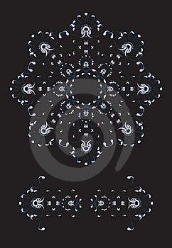 New Year / Christmas Snowflake Greeting Card Royalty Free Stock Image - Image: 6757526