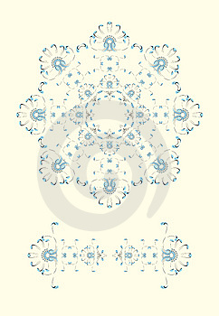 New Year / Christmas Snowflake Greeting Card Royalty Free Stock Images - Image: 6757579