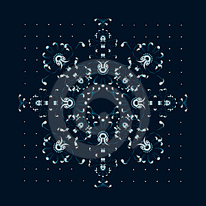 New Year / Christmas Snowflake Greeting Card Stock Photography - Image: 6757692