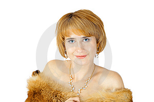 Portrait Of Beautiful Smiling Blue-eyed Woman Royalty Free Stock Image - Image: 6760886