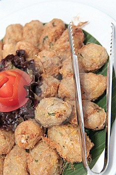 Fried Roll Mashed Potatoes Stock Photo - Image: 6761140