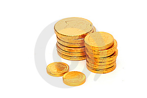 Chocolate Coins Royalty Free Stock Photos - Image: 6761578