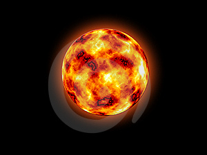 Burning Out Sun Stock Image - Image: 6762691