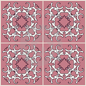 Swirly Tiles Royalty Free Stock Image - Image: 6763266