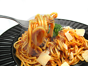 Enjoy Your Spaghetti Royalty Free Stock Images - Image: 6763899