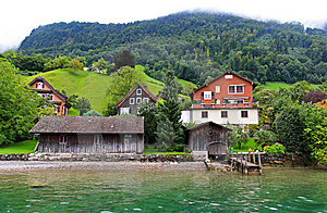 The Small Village On The Hills Around Lake Luzern Royalty Free Stock Photography - Image: 6764207