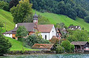 The Small Village On The Hills Around Lake Luzern Stock Photography - Image: 6764212