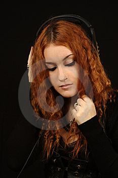 Girl In Black Royalty Free Stock Image - Image: 6764296