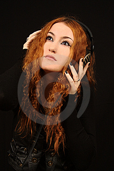 Girl In Black Stock Photography - Image: 6764332