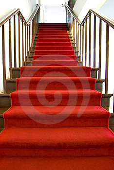 Red Carpet Stairs Royalty Free Stock Images - Image: 6764429