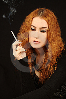 Girl In Black Royalty Free Stock Photography - Image: 6764487