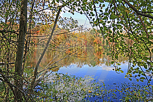 Chain O'Lakes In The Fall Stock Photo - Image: 6764740