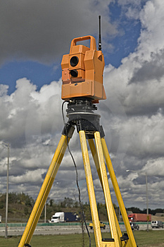 Surveying Highway Royalty Free Stock Images - Image: 6767179