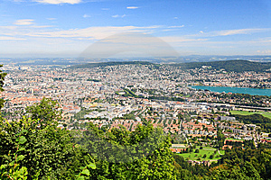 The Aerial View Of Zurich City Royalty Free Stock Photography - Image: 6769077