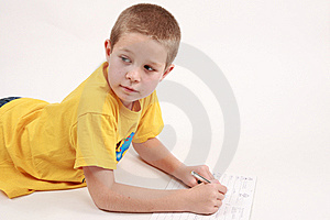 Boy And Pen Stock Photography - Image: 6770012