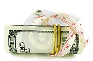 Hundert Dollarscheinrolle - Dollar Wächst Dünn Lizenzfreie Stockfotografie - Bild: 6770477