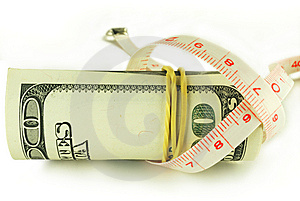 One Hundred Dollar Bill Roll - Dollar Grows Thin Stock Photos - Image: 6770533