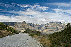 Mountain Road In Southern Alps Stock Photography - Image: 6771332