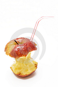 Red Apple Stumb Royalty Free Stock Images - Image: 6771949