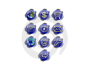 Web Buttons Royalty Free Stock Images - Image: 6773269