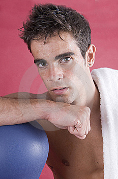 Boxer Man After The Exercise With The Punch Royalty Free Stock Photos - Image: 6774108