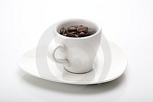 Cup With Coffee Grains Stock Image - Image: 6775891