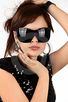 Brunette In Sun Glasses Royalty Free Stock Image - Image: 6777316