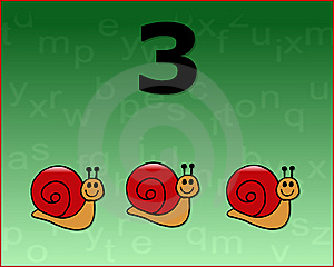 Number Snail Royalty Free Stock Image - Image: 6777436