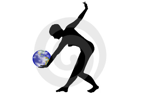 Dance With Earth Royalty Free Stock Image - Image: 6777606