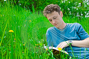 Young Man Reading Stock Image - Image: 6778301