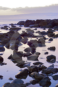 The Stone In The Sea Landscape Stock Image - Image: 6784551
