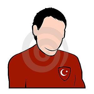 Turkish Football Player Royalty Free Stock Photography - Image: 6786897