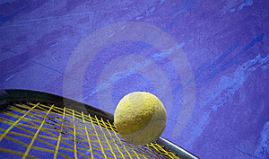 Tennis-Aktion Stockfoto - Bild: 6789020