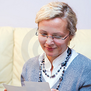 Blond Woman In Glasses Stock Photo - Image: 6790820