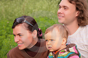 Parents With Child On Nature Royalty Free Stock Photo - Image: 6791735