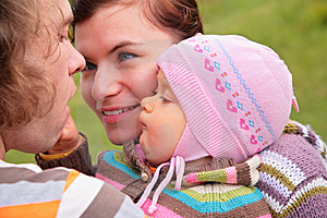Parents With Child On Nature Stock Photos - Image: 6792973