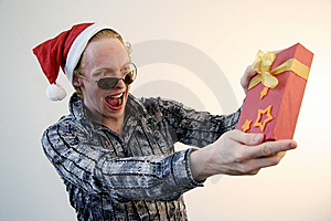 Show-off With Xmas Gift Stock Images - Image: 6793274