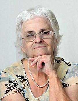 Portrait Of Senior Lady Royalty Free Stock Images - Image: 6794589