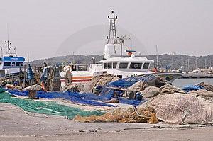 Menorca Mahon Port Fishing  Boat Stock Images - Image: 6796584